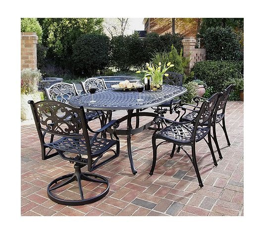Home Styles Biscayne 7 Piece Dining Set With Armchairs