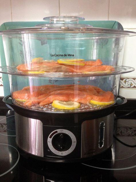 Receta salmón al vapor en vaporera #lacocinademina https://lacocinademina.wordpress.com