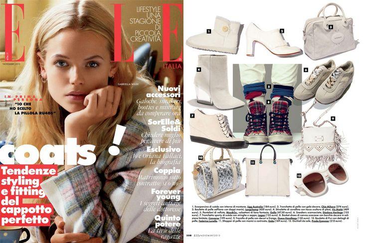 Elle November 2013 - ADV in Elle. www.federicalunello.com #federicalunello #bags #accessories #madeinitaly #handmade