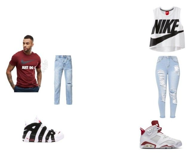 """""""power couple"""" by kennedyt-1 on Polyvore featuring NIKE and Ksubi"""