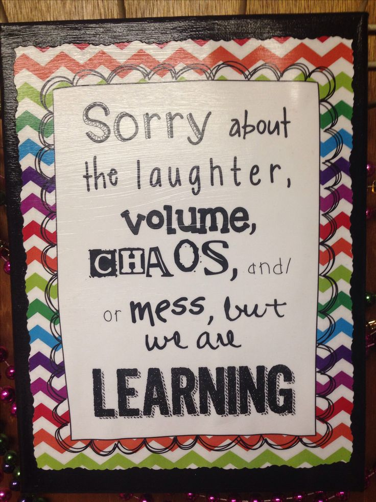 DIY classroom- sign mod podged onto painted canvas. I will use this as a disclaimer in my classroom :)