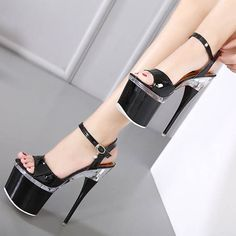 2017 Summer <b>sexy</b> women extreme thin high heels Sandals 8CM ...