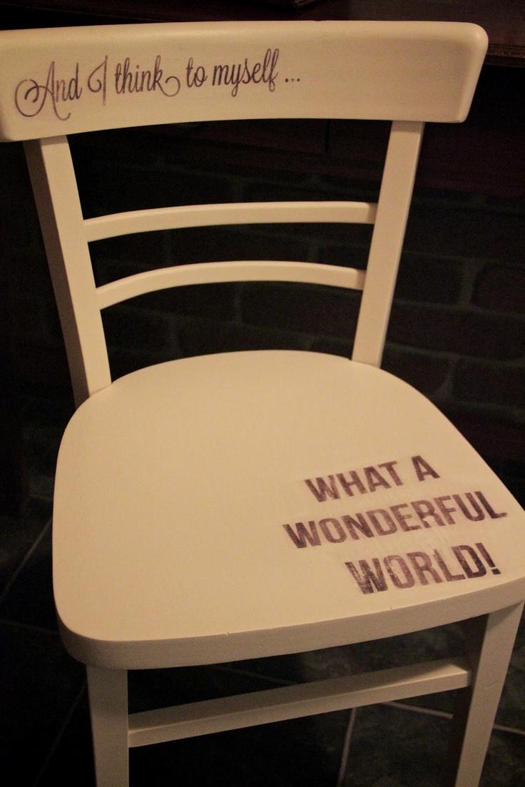 ~ <3 Wonderful World Chair by I Restore Stuff <3 ~