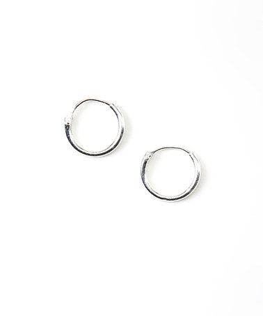 Love this Sterling Silver Small Hoop Earrings by Tomas Jewelry on #zulily! #zulilyfinds.sh