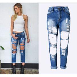 Jeans Boyfriend Déchirés Et Découpé Choies