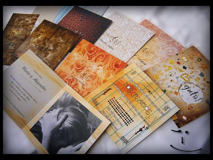 """""""Creación de nuestras tarjetas""""... en el blog de Creafactory • Creation of our cards"""