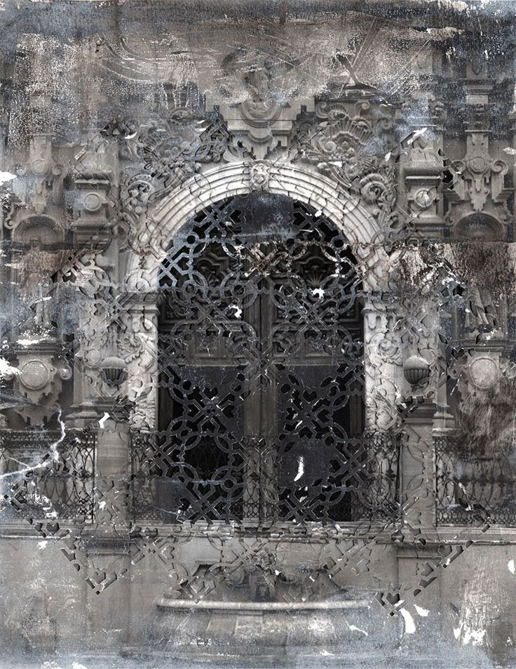 at the gates textured cut paper compositions by elise wehle