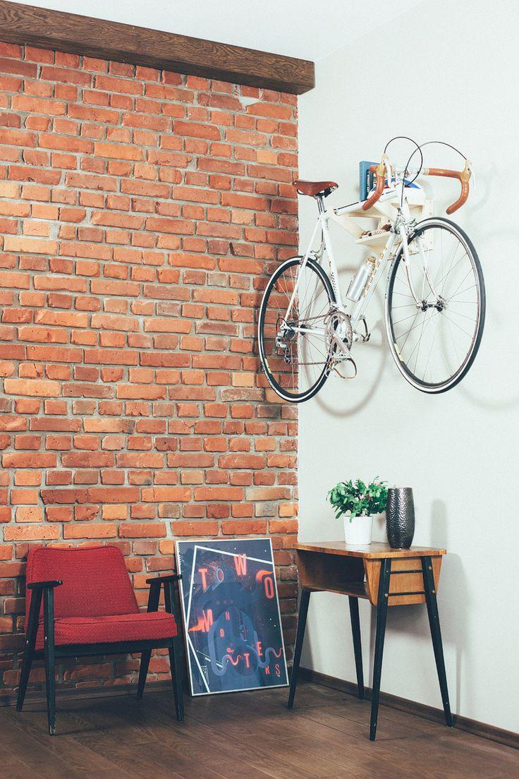 TRZYMAK is bicycle hanger for your interior. Indoor bike rack. Do U want to learn more? Go to the FAJNA RAMA website.  #hanger #trzymak #fajnarama #bicycle #bike #rack #indoor #interior