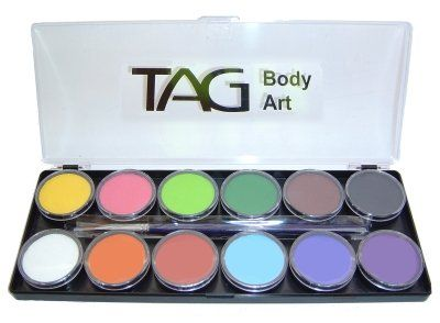 Tag Face Paint Palette Regular 12 Colors *** Check this awesome product @ http://www.amazon.com/gp/product/B00FE95FJI/?tag=beautycare888-20&pvw=220716182243