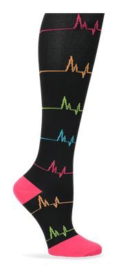 Nurse Mates Compression Trouser Socks - EKG Style # LO883757  #uniformadvantage…