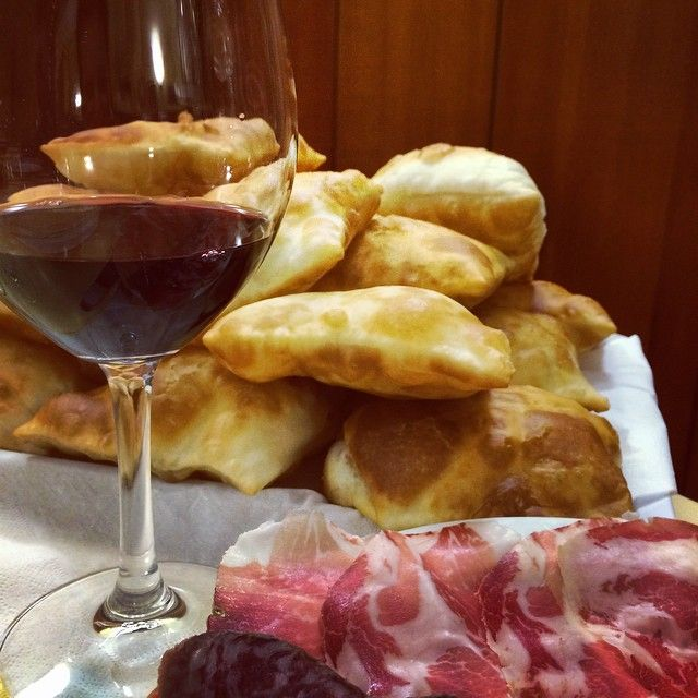 Gnocco fritto, vino e culatello..What else? - Instagram by tednais