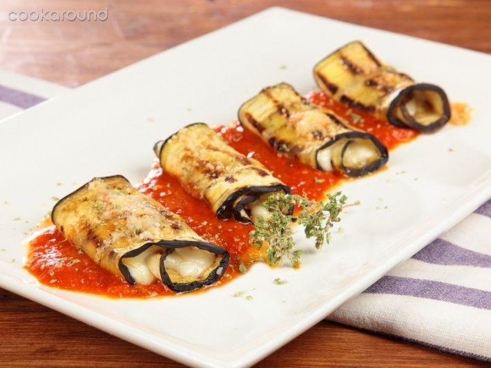 Involtino di melanzane alla parmigiana -eggplant involtini