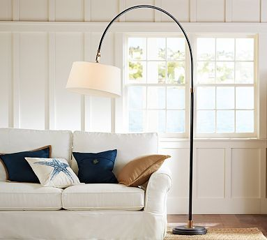 Winslow arc sectional floor lamp potterybarn
