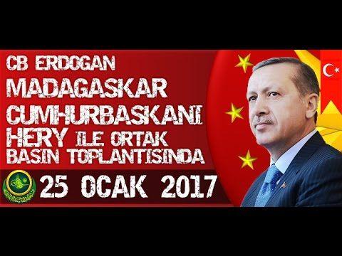 Cumhurbaşkanı Erdoğan, Madagaskar Cumhurbaşkanıyla Ortak Basın Toplantıs...