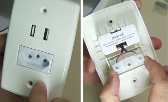 Instalação de uma tomada USB                                                                                                                                                                                 Mais