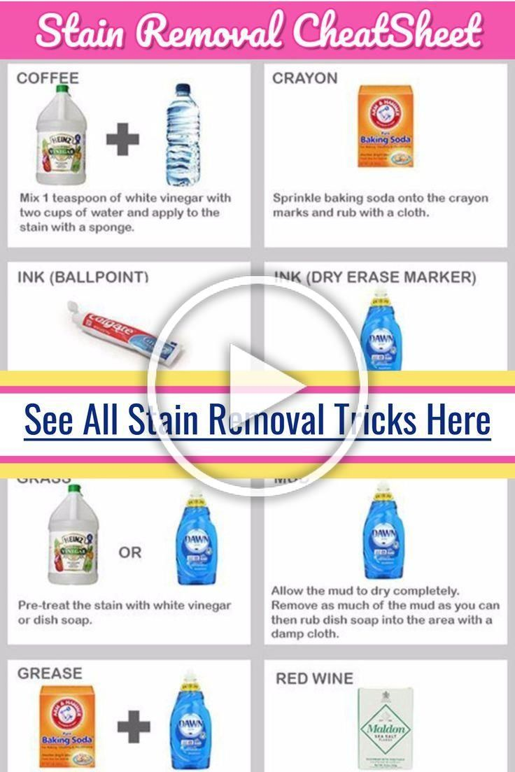 Laundry Stain Removal Guide And Cheat Sheets How To Get Stains
