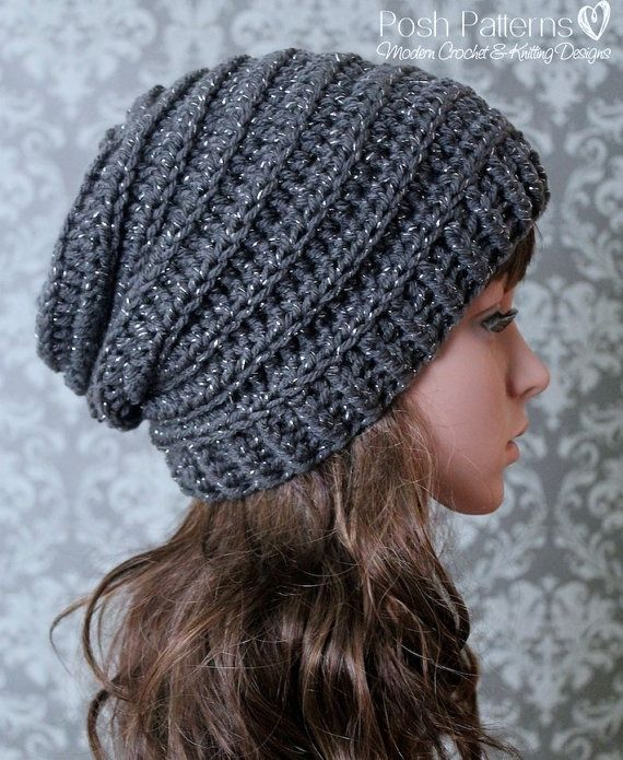 Crochet PATTERN – Easy Crochet Pattern – Crochet Slouchy Hat Pattern – Ribbed Crochet Hat Pattern – Baby, Child, Adult Sizes – PDF 429