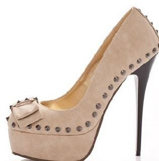pantofi bej