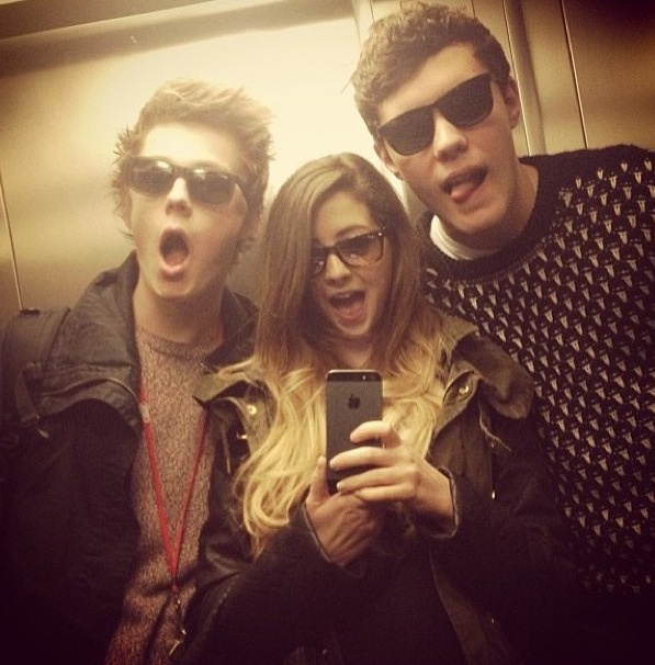 "Casper lee, zoella, and Alfie having a cheeky elevator selfie - their ship name will be Zalfie Lee and you can quote me on that  (I have no idea if I used ""cheeky"" right but it sounded cool) xx"