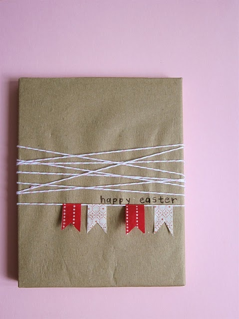 :: Wrapping & Washi Tape Garland  :: #gift_wrapping