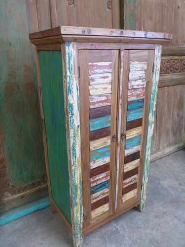Bali Furniture Recycled Boat Timber Cupboard Dresser Console Sideboard  Rustic