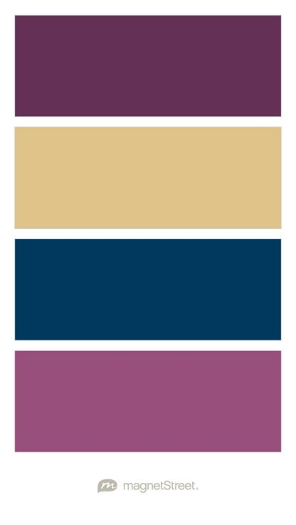 Eggplant Gold Navy And Mulberry Wedding Color Palette