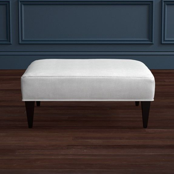 Fairfax Large Ottoman, Tapered Leg with Smooth Top #williamssonoma