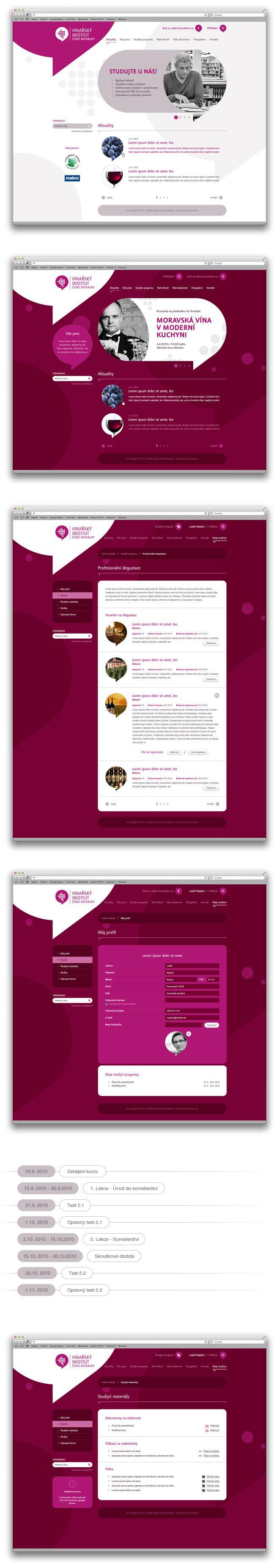 Vinařský institut | Art4web | Kreatívna internetová agentúra | Tvorba webstránok, Grafický design, Copywriting, SEO