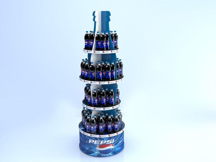 3d визуализация торгово выставочного оборудования ТМ Pepsi