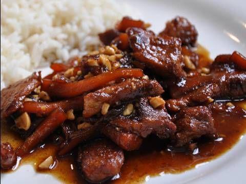 Recette de cuisine vietnamienne: porc au caramel - YouTube