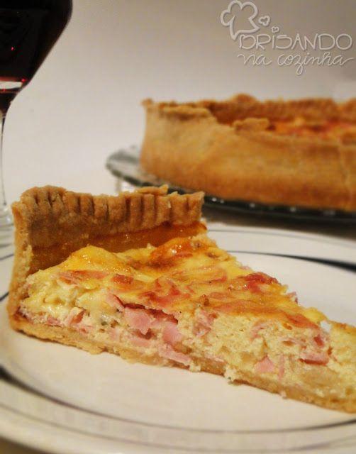 Brisando na Cozinha: Quiche de presunto e queijo (massa com maionese)