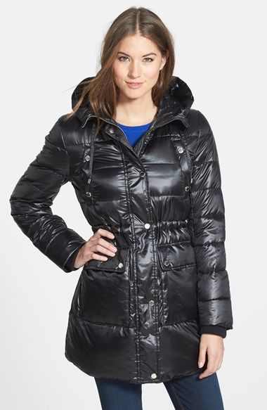 MICHAEL Michael Kors Hooded Down Anorak available at #Nordstrom