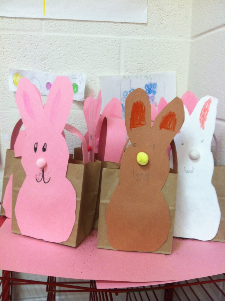 20 best bags images on pinterest easter easter ideas and brown bags paper bag easter baskets negle Images