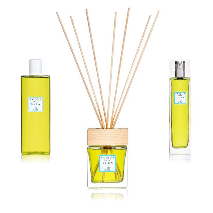 Citrus Scented Home Fragrance from Acqua dell'Elba. Buy online at www.italianluxurygroup.com.au #AcquadellElba #Italy #Home #Fragrance #Yellow #Home #Decor #Scent #Luxury #ItalianLuxury