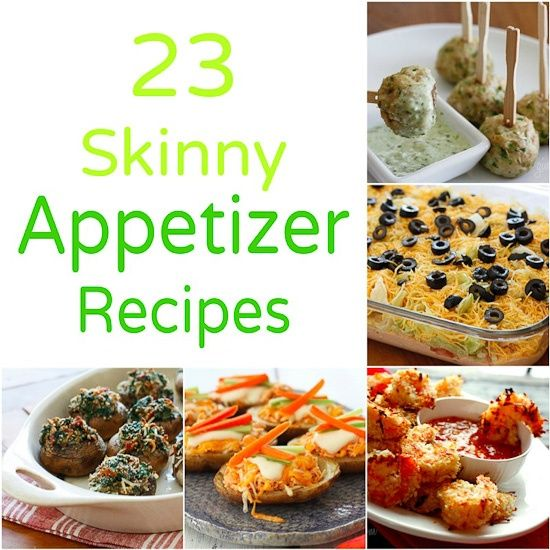 23 Skinny Appetizer Recipes | Skinnytaste- (it's nice to have some light choices at parties too)