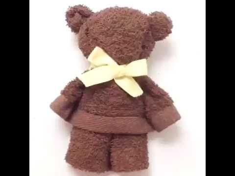 Making a Towel Teddy Bear