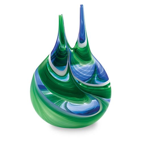 Kingfisher Double Neck Vase, part of a range of vases, bowls, lighting solutions and more. Purchase direct with international shipping: http://www.mdinaglass.com.mt/en/products/webshop/bycategory/355/price/asc/15/1/kingfisher.htm#.VayoICqqqko