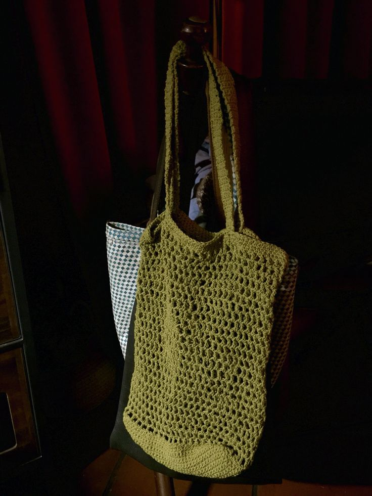 hand crochet market bag
