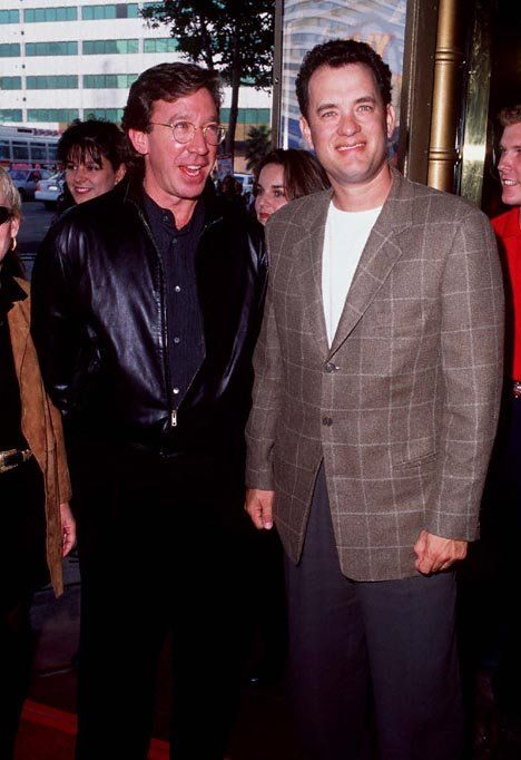 Tom Hanks and Tim Allen at event for Toy Story