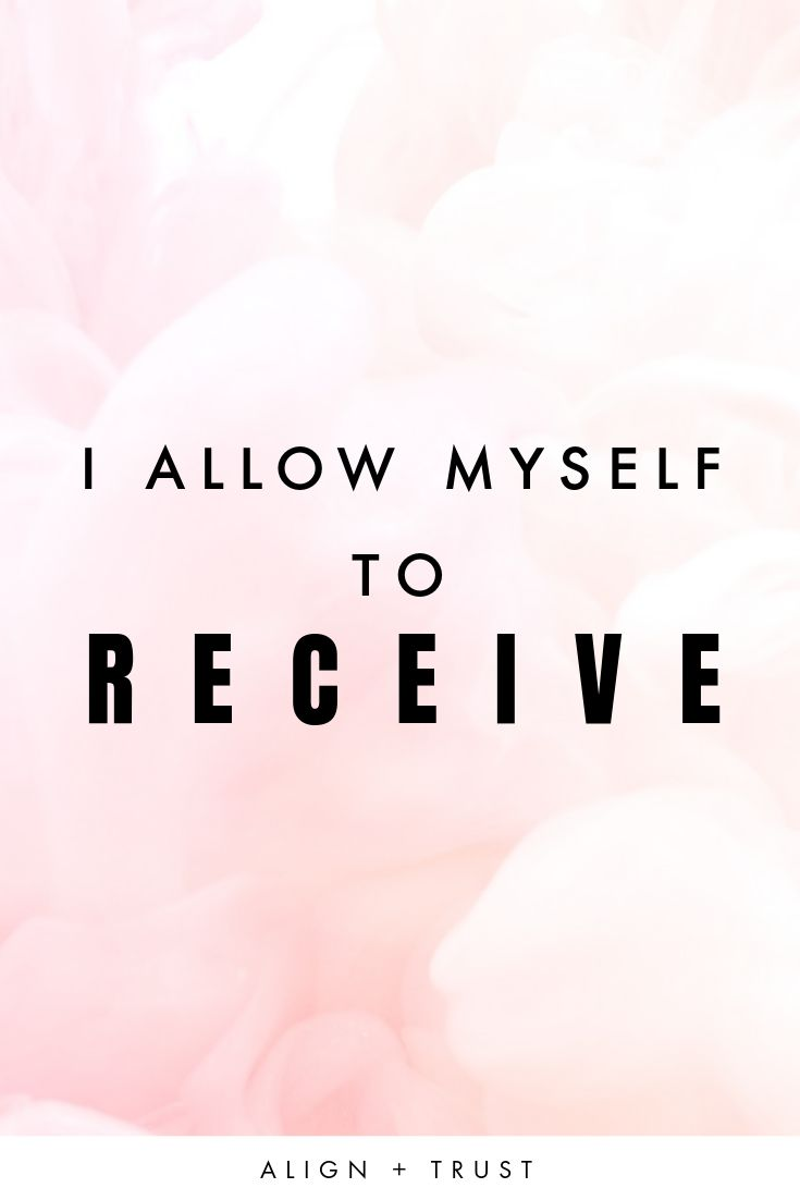 I Allow Myself to RECEIVE   Being a giver means yo…