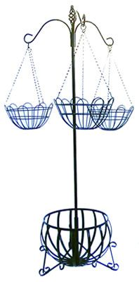 Planters & Pot Holders :  One of our most popular Royale Hanging Basket Stand