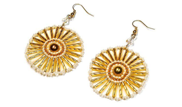DIY: Round bead earrings / Круглые серьги из бисера (мастер-класс)