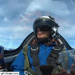 Pilot finds creative way to drink