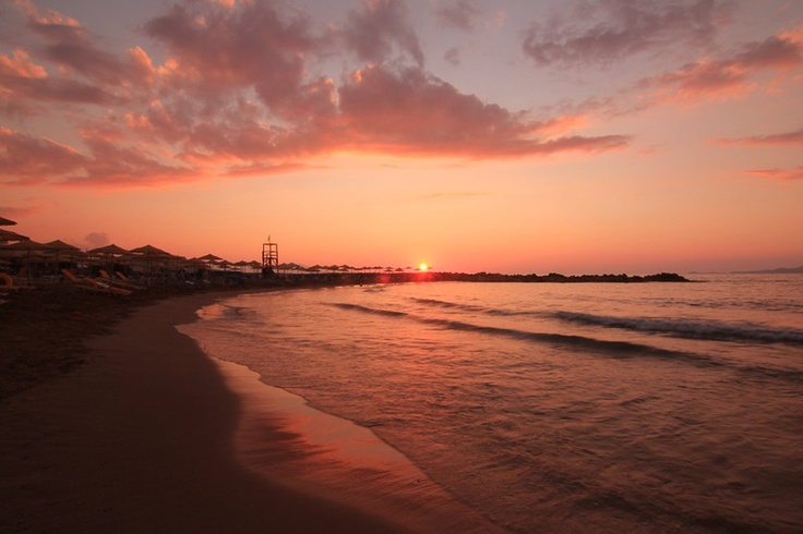 sunset in Greec