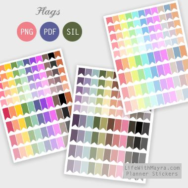 Flags Planner Stickers