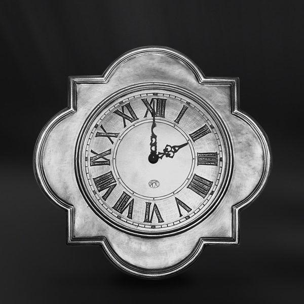 Pewter Wall Clock - Width: 32 cm (12,6″) - Height: 32 cm (12,6″) - #pewter #wall #clock #peltro #orologio #parete #zinn #wanduhr #wand #uhr #étain #etain #horloge #murale #peltre #tinn #олово #оловянный #gifts #giftware #home #housewares #homewares #decor #design #bottega #peltro #GT #italian #handmade #made #italy #artisans #craftsmanship #craftsman #primitive #vintage #antique