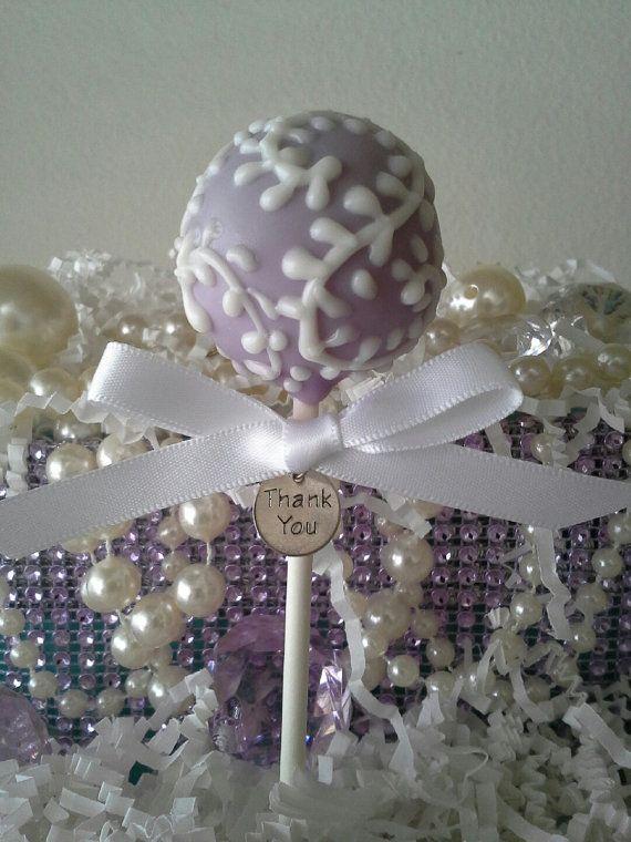 Lavender Cake Pop  Wedding Favor  Bridal by TheMaDCakePopShop, $36.00