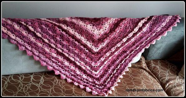 Easy crochet shawl. Εύκολο πλεκτό σάλι με βελονάκι.