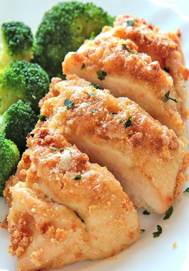 Baked Garlic Parmesan Chicken | Cakescottage