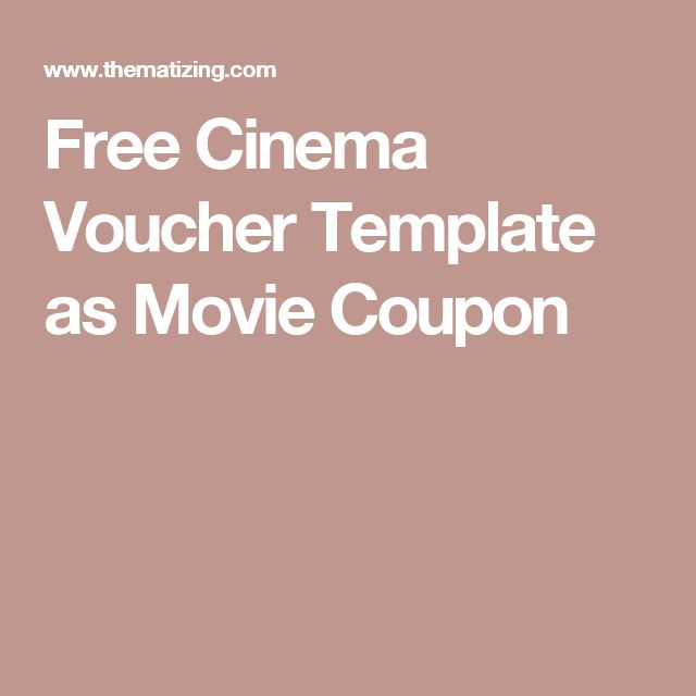 The 25+ best Cinema vouchers ideas on Pinterest Clever - how to make vouchers